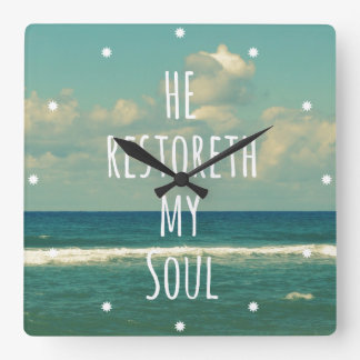 Él restoreth mi escritura del verso de la biblia reloj