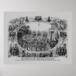 El resultado de la décimo quinta enmienda póster
