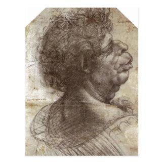 El resumen una cabeza grotesca (C. 1504 - 1507) es Postal