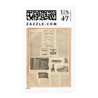 El resumirse en los ferrocarriles americanos sellos