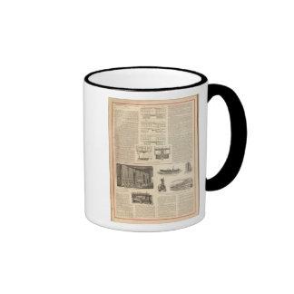 El resumirse en los ferrocarriles americanos tazas de café