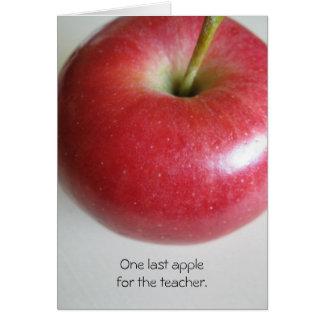 El retiro Apple del profesor carda Tarjeta