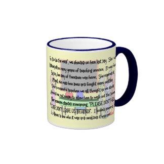 """El retiro del profesor """"no va"""" los regalos del art taza a dos colores"""