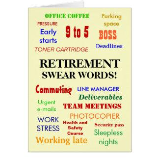 ¡El retiro jura palabras! - Añada una imagen Tarjeta De Felicitación