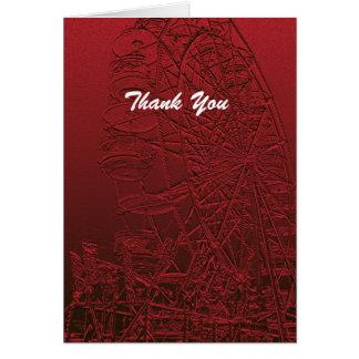 El retiro le agradece noria roja tarjeta pequeña