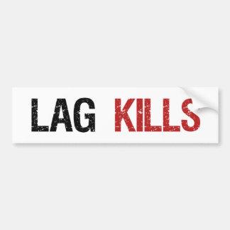 El retraso mata a videojugadores etiqueta de parachoque