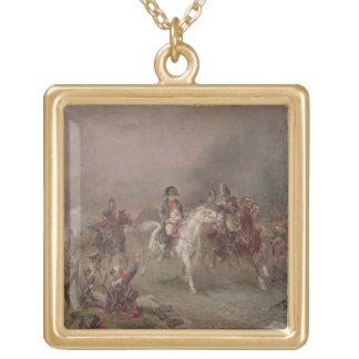 El retratamiento de Napoleon (aceite en lona) Colgante Cuadrado