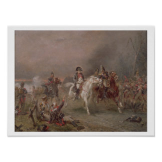El retratamiento de Napoleon (aceite en lona) Póster