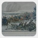El retratamiento del ejército francés de Moscú Pegatina Cuadrada