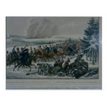 El retratamiento del ejército francés de Moscú Tarjetas Postales