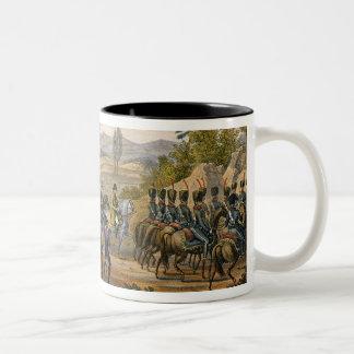 El retratamiento francés después de la batalla de taza de café de dos colores