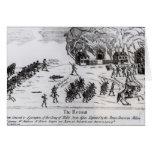 El retratamiento, publicado 1775 tarjeta de felicitación