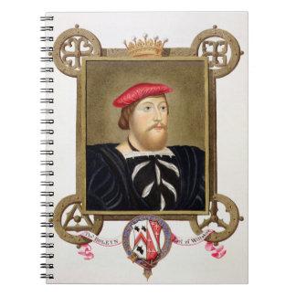El retrato de 1477-1539) condes de Thomas Boleyn ( Libros De Apuntes Con Espiral