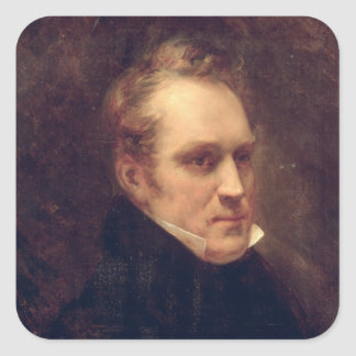 El retrato de Aimable-Guillaume-Prospera Brugiere Pegatina Cuadrada
