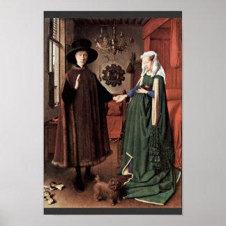 El retrato de Arnolfini el boda de Arnolfini por J Poster