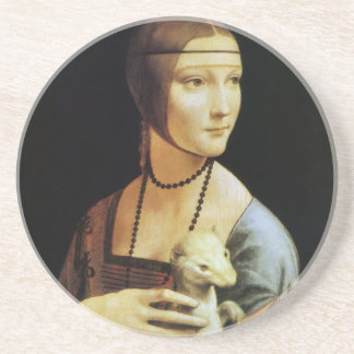 el retrato de da Vinci de Cecilia Gallerani Posavaso Para Bebida