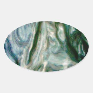 El retrato de fusión pegatina ovalada