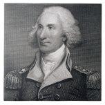 El retrato de general importante Philip Schuyler,  Azulejo Cuadrado Grande