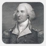 El retrato de general importante Philip Schuyler, Pegatina Cuadrada
