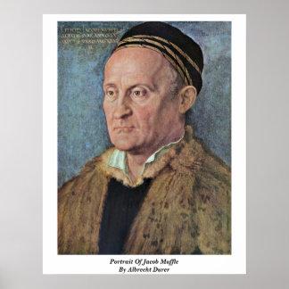 El retrato de Jacob amortigua por Albrecht Durer Posters