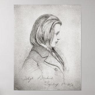 El retrato de Johanes Brahms envejeció veinte, 185 Póster