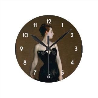 El retrato de John Singer Sargent de señora X Reloj Redondo Mediano