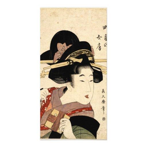 el retrato de la mujer (machiya ningún nyobo) tarjetas personales