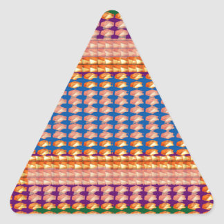 El retrato de la sensación de la FELICIDAD Colcomanias De Triangulo