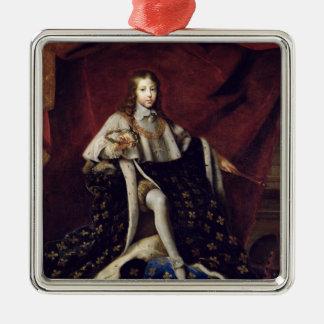 El retrato de Louis XIV envejeció 10, 1648 Adorno
