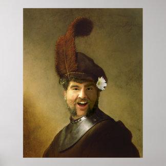 El retrato de San Pablo - pluma, flor, fabulosa Posters