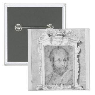 El retrato de un hombre supuso ser Veronese Pin Cuadrada 5 Cm