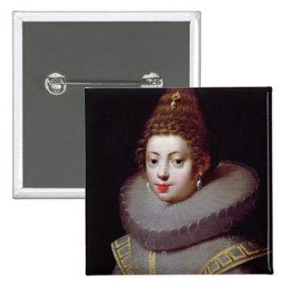 El retrato de una señora, dijo ser Marguerite de V Pin Cuadrada 5 Cm
