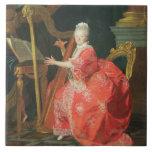 El retrato de una señora, dijo ser señora Adelaide Azulejo Cuadrado Grande