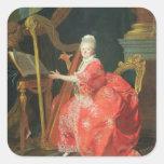 El retrato de una señora, dijo ser señora pegatina cuadrada
