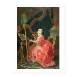 El retrato de una señora, dijo ser señora tarjeta postal