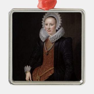 El retrato de una señora envejeció 29, 1615 ornamento de reyes magos