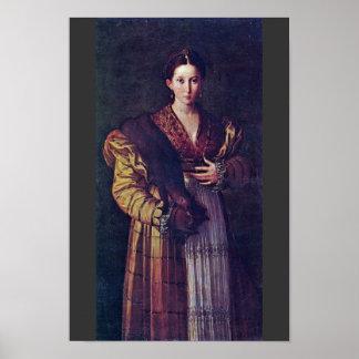 El retrato de una señora joven llamó Anteia. Posters