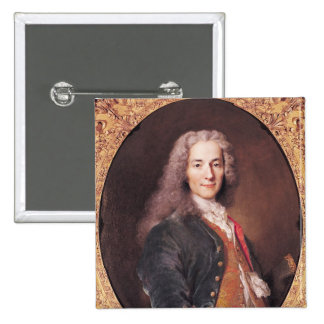 El retrato de Voltaire envejeció 23, 1728 Pin Cuadrada 5 Cm