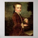 El retrato de Wolfgang Amadeus Mozart envejeció Impresiones