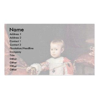 El retrato del infante Philip prospera Plantillas De Tarjetas Personales