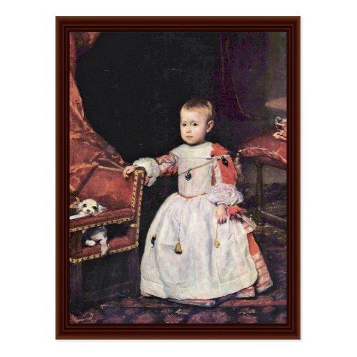 El retrato del infante Philip prospera Tarjetas Postales
