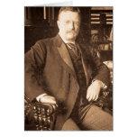 El retrato del vintage de Teddy Roosevelt de los a Tarjetas