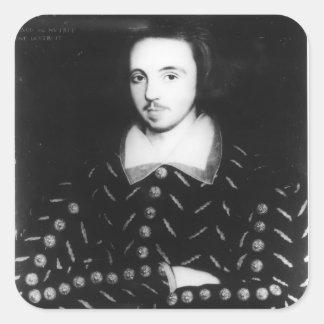 El retrato dijo ser Christopher Marlowe Pegatina Cuadrada
