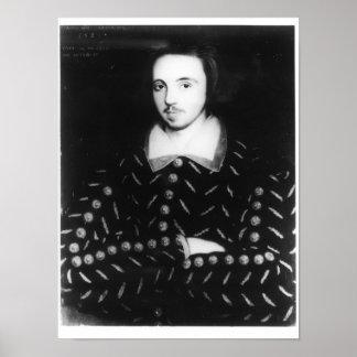 El retrato dijo ser Christopher Marlowe Póster