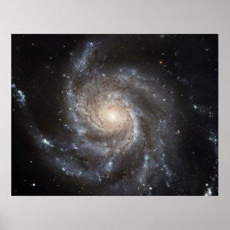 El retrato más grande de la galaxia de Hubble Póster