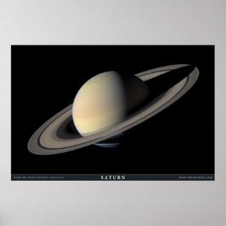 El retrato más grande de Saturn Póster