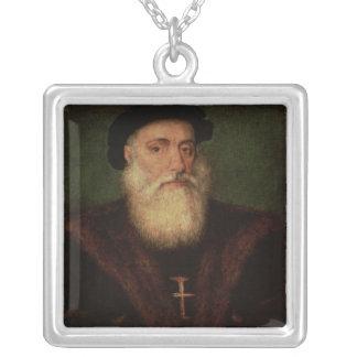 El retrato supuso estar de Vasco da Gama c.1524 Collar Plateado