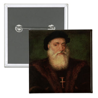 El retrato supuso estar de Vasco da Gama c.1524 Pin Cuadrado
