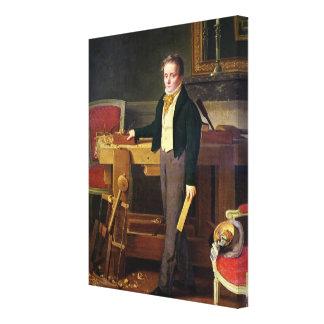 El retrato supuso ser Alfred de La Chaussee Impresiones En Lona Estiradas