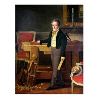 El retrato supuso ser Alfred de La Chaussee Tarjeta Postal